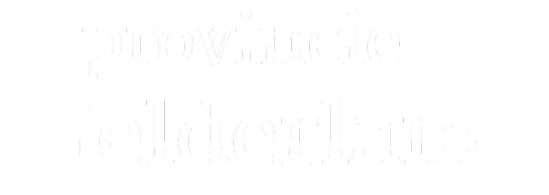 Logo Provincie Gelderland (witte kleur)